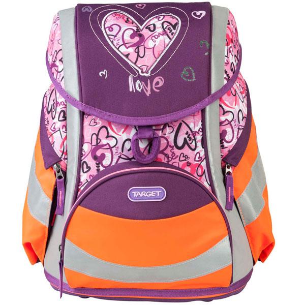 Školska torba Target Reflex Hearts anatomska 17958 - ODDO igračke