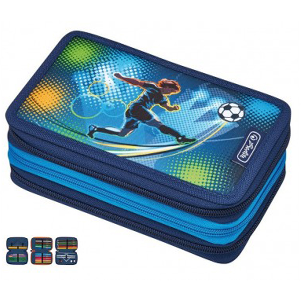 Pernica puna 3zipa 3preklopa Soccer Herlitz 50008544 - ODDO igračke