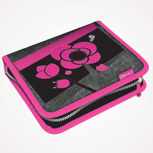 Pernica Connect puna 1zip 2 preklopa Cute 1A 17. sivo-roze 609855 - ODDO igračke