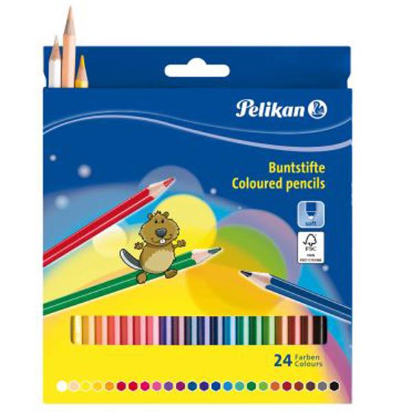 Boje drvene 24 boje Pelikan 724013 blister - ODDO igračke