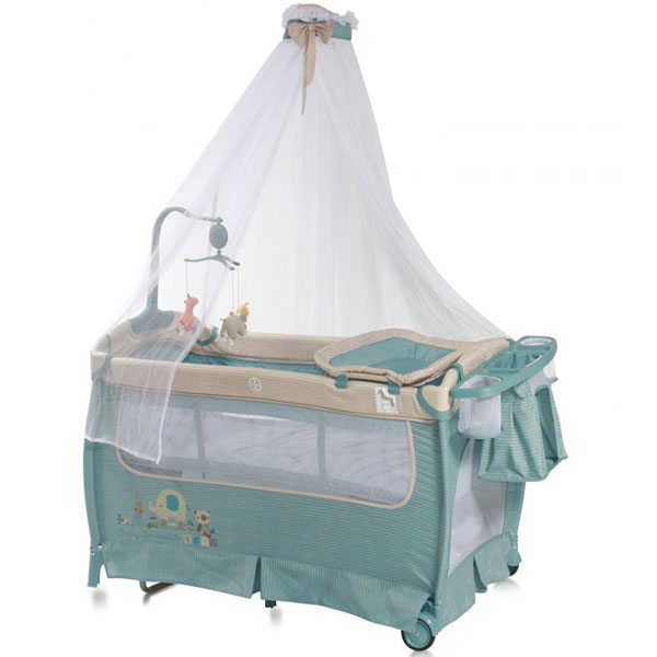 Prenosivi Krevetac Sleep N Dream + Baldahin Blue 10080341603 - ODDO igračke