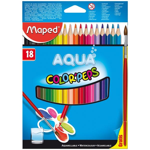 Maped drvene bojice akvarel Aqua 1/18 M836012 - ODDO igračke