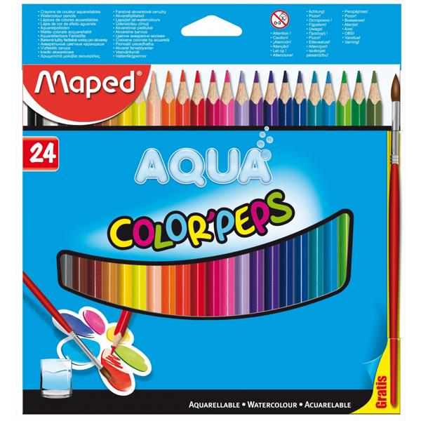 Maped drvene bojice akvarel Aqua 1/24 M836013 - ODDO igračke