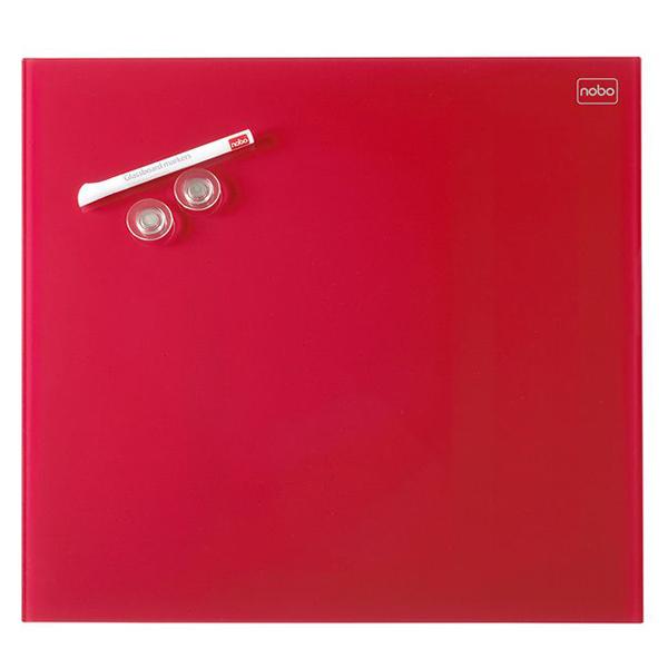 Tabla magnetna 30X30cm staklena Diamond Nobo 1903954 crvena - ODDO igračke