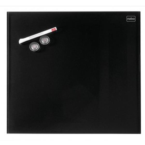 Tabla magnetna 30X30cm staklena Diamond Nobo 1903950 crna - ODDO igračke