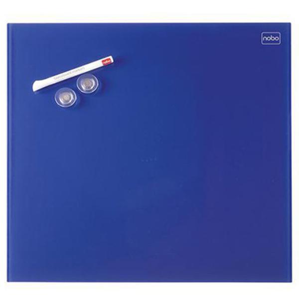Tabla magnetna 45x45cm staklena Diamond Nobo 1903953 plava - ODDO igračke
