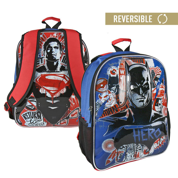 Ranac đački sa dva lica Batman Superman Cerda 2100002017 - ODDO igračke