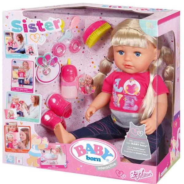 Baby Born interaktivna lutka sestra ZF820704 - ODDO igračke