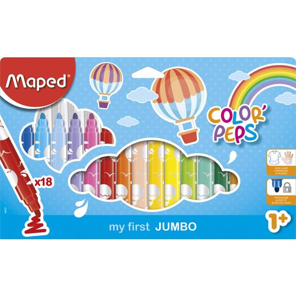 Maped flomasteri Color Max Peps Jumbo 1/18 M846221 - ODDO igračke