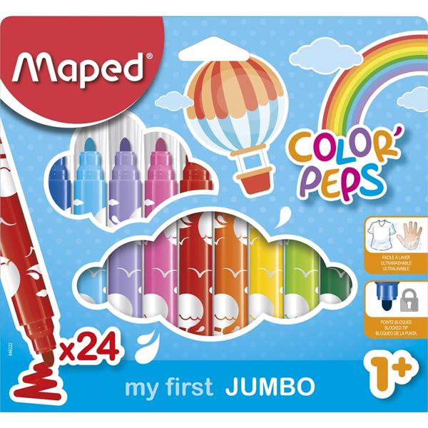 Maped flomasteri Color Max Peps Jumbo 1/24 M846222 - ODDO igračke