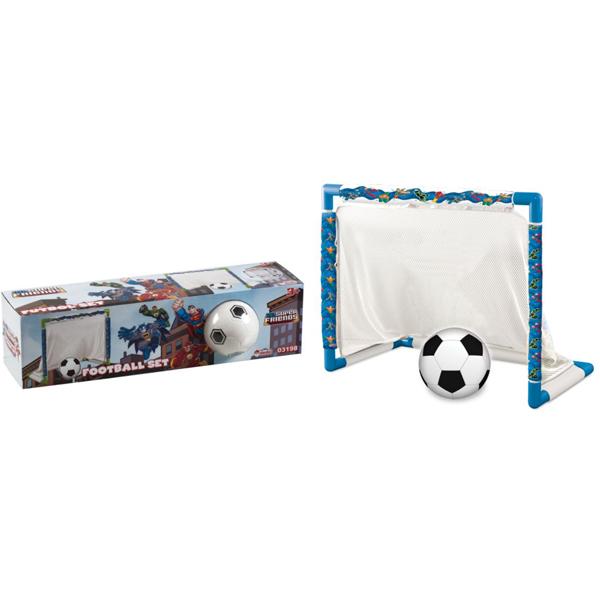 Fudbalski set gol sa loptom Super Friends DEDE 031980 - ODDO igračke
