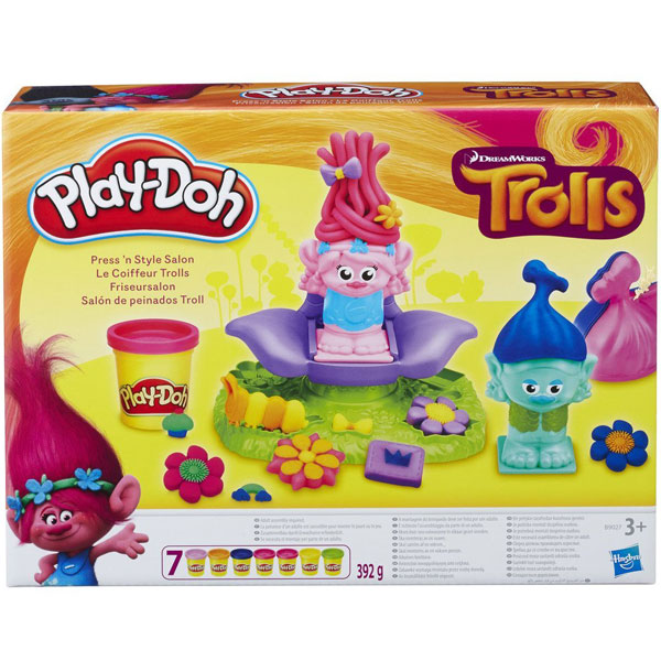 Plastelin PlayDoh Trolls Press N Style Salon B9027 - ODDO igračke