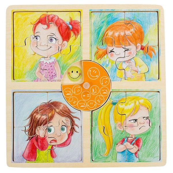 Drvena slagalica Emocije devojčica Pino Toys 5483-1 - ODDO igračke