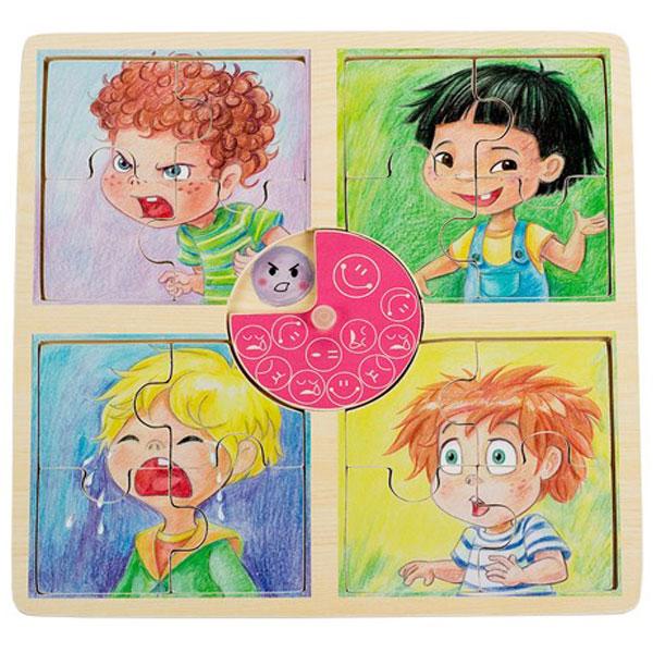 Drvena slagalica Emocije dečak Pino Toys 5483-2 - ODDO igračke