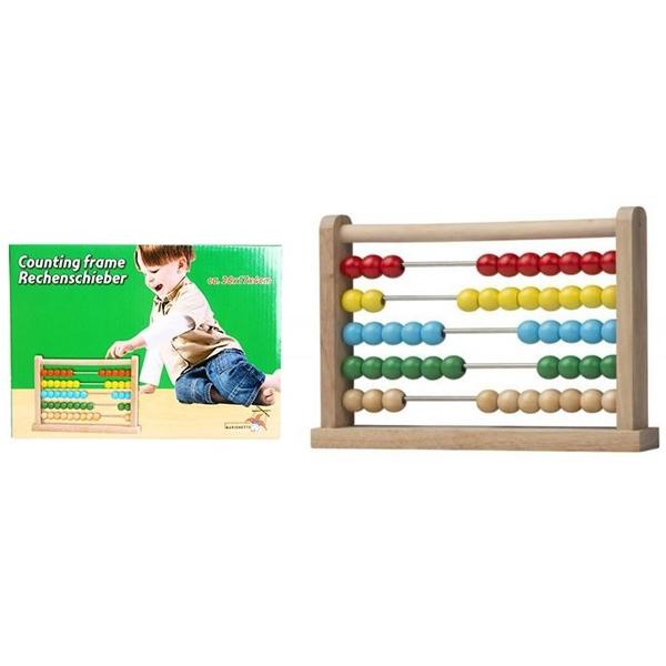 Drvena računaljka sa kuglicama 93213 - ODDO igračke