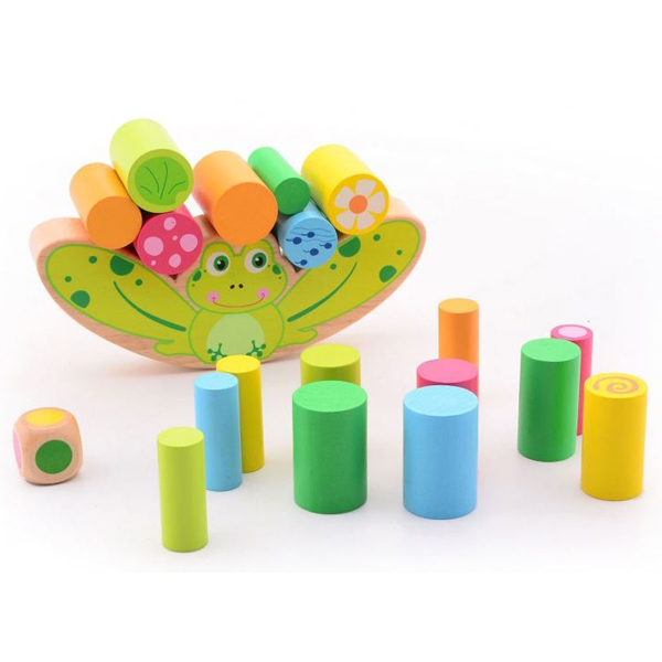 Joueco Drvena igračka žaba balans 20 delova 80052 - ODDO igračke