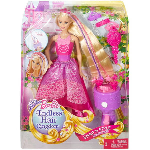 Barbie Endless Hair Kingdom Snap n Style Princess Doll MADKB62 - ODDO igračke