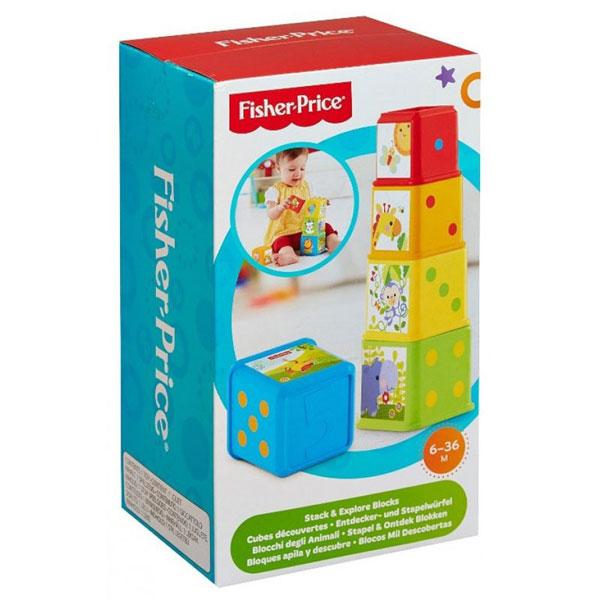 Kocke Sa Slikama Za Redjanje Fisher Price MACDC52 - ODDO igračke