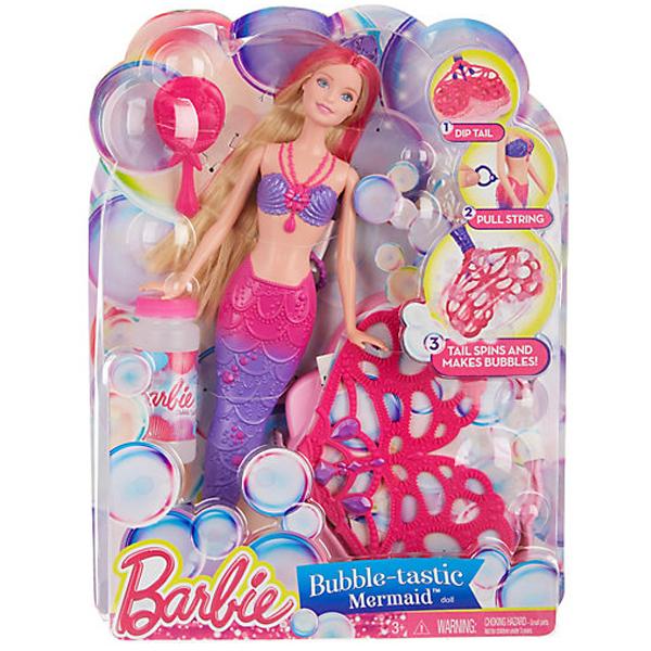 Barbie Bubble-Tastic Mermaid Doll CFF49 - ODDO igračke