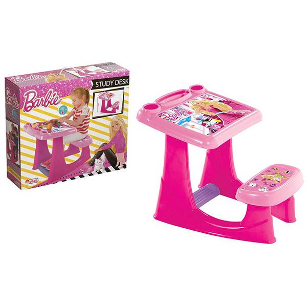 DEDE Dečiji stočić sa klupicom Barbie 030495 - ODDO igračke