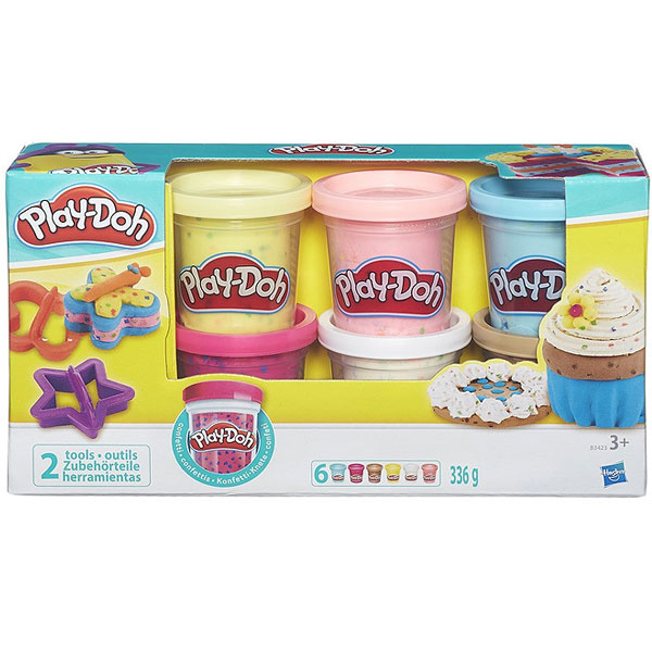 Plastelin PlayDoh Konfeti Set B3423 - ODDO igračke