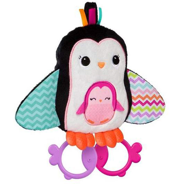 Zvečka Cuddle & Teethe Penguin SKU10813 - ODDO igračke