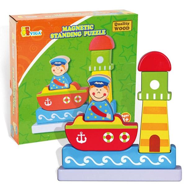 Viga Drvena slagalica magnetna More 59704 7710 - ODDO igračke