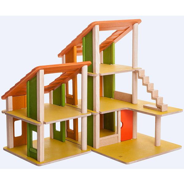 PlanToys Kućica za lutke drvena, planinska sa nameštajem 7602 - ODDO igračke
