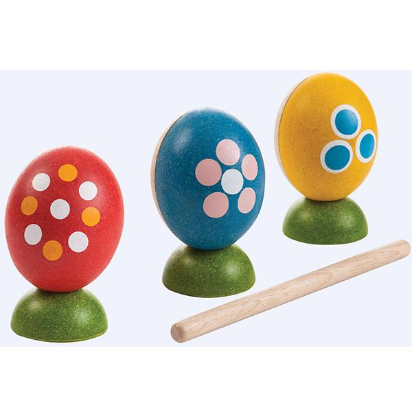 PlanToys Udaraljke muzički set Šarena jaja 5602 - ODDO igračke