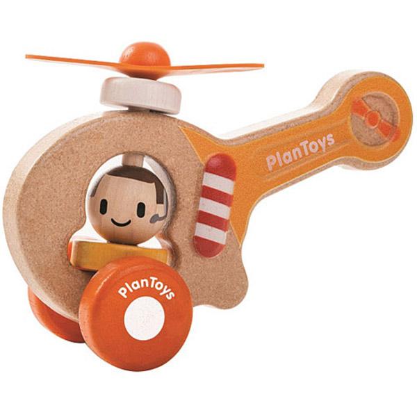 PlanToys Drvena igračka HELIKOPTER 5685 - ODDO igračke