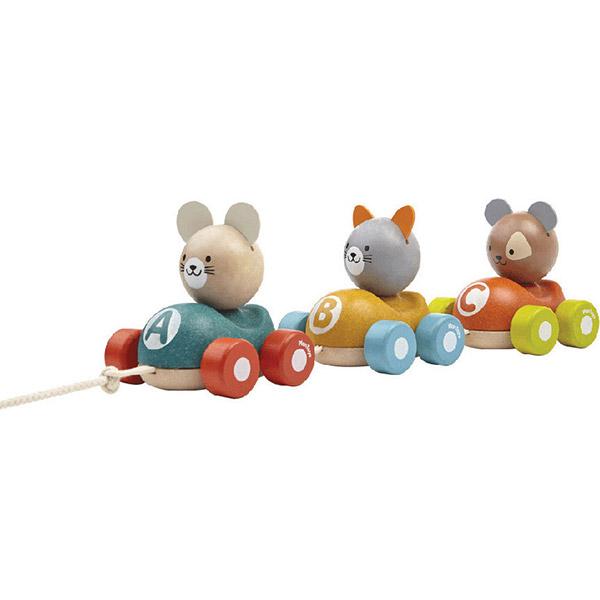PlanToys Set drvenih autića na povlačenje - KUCA, MACA, MIŠ 5676 - ODDO igračke