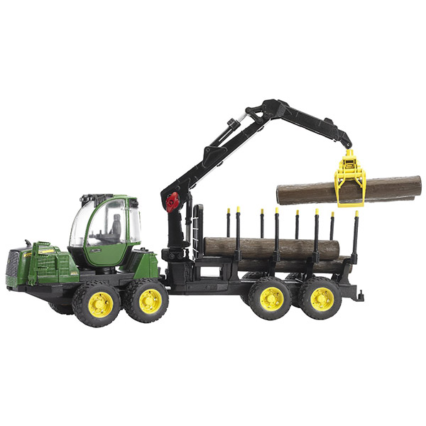 Traktor sa prikolicom i drvima Jonh Deer Bruder 021337 - ODDO igračke
