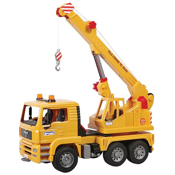 Kamion MAN sa Kranom žuti Bruder 027544 - ODDO igračke