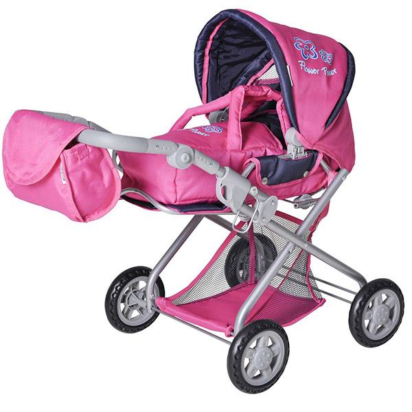 Kolica za lutke Knorrtoys Kyra Flower Power pink 61866 - ODDO igračke