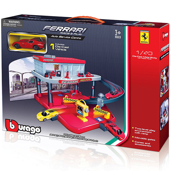 Burago 1/43 Ferrari Race and Play Auto Service Centre BU31231 - ODDO igračke