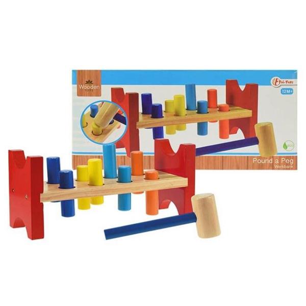 WoodenToy Drvena igracka ukucaj klin 13x27x10cm 82507   ODDO igračke