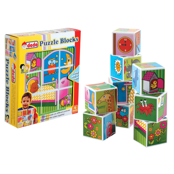 DEDE Puzzle kocke (9 kom.) 020347 - ODDO igračke