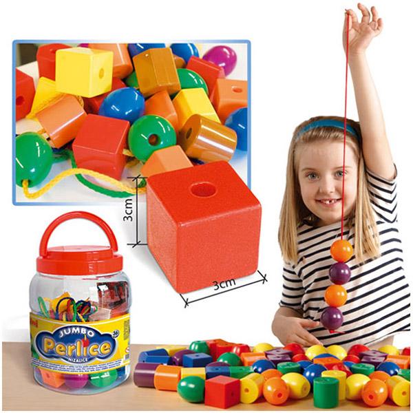 Jumbo perlice-nizalice u tegli P-0221T/1 - ODDO igračke
