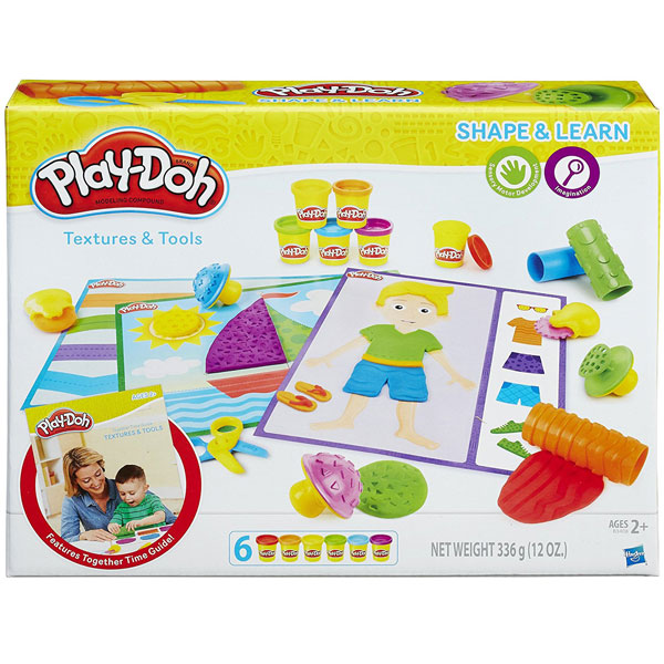 PlayDoh plastelin set Shape and Learn Textures B3408 - ODDO igračke