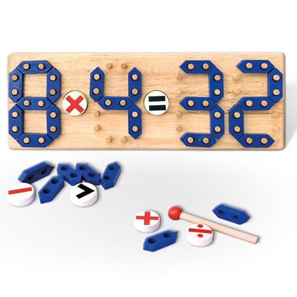 Viga Drveni set Učimo matematiku 58591  - ODDO igračke