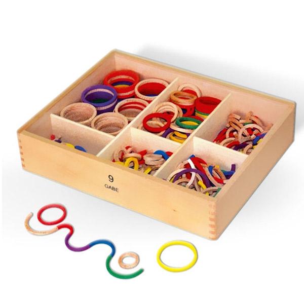 Viga Drveni kružići u kutiji 58872 5367 - ODDO igračke