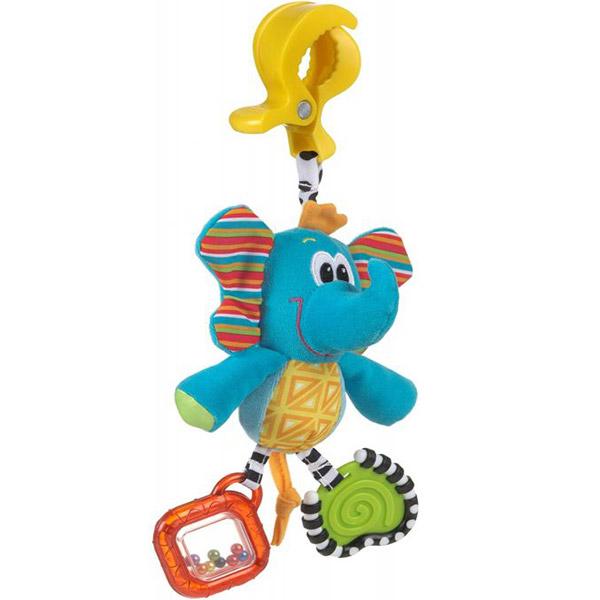 Zvečka PlayGro štipaljka Slon 182852 - ODDO igračke