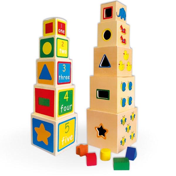 Viga Drvena slagalica Kocka u kocku 58337 6127 - ODDO igračke