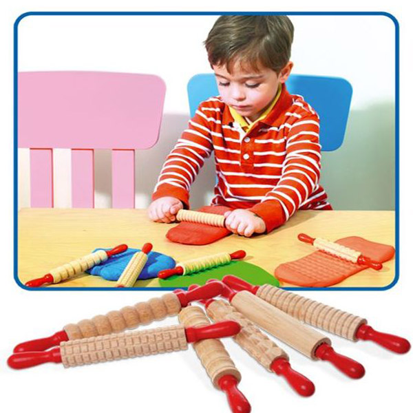 Drvene oklagije za modelovanje-6 tekstura EDX 75022 - ODDO igračke