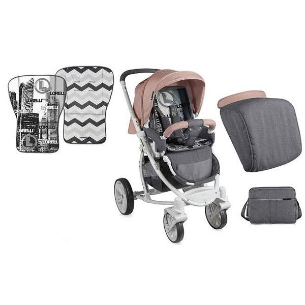 Kolica S-700 Beige + mama bag 10020941613 - ODDO igračke