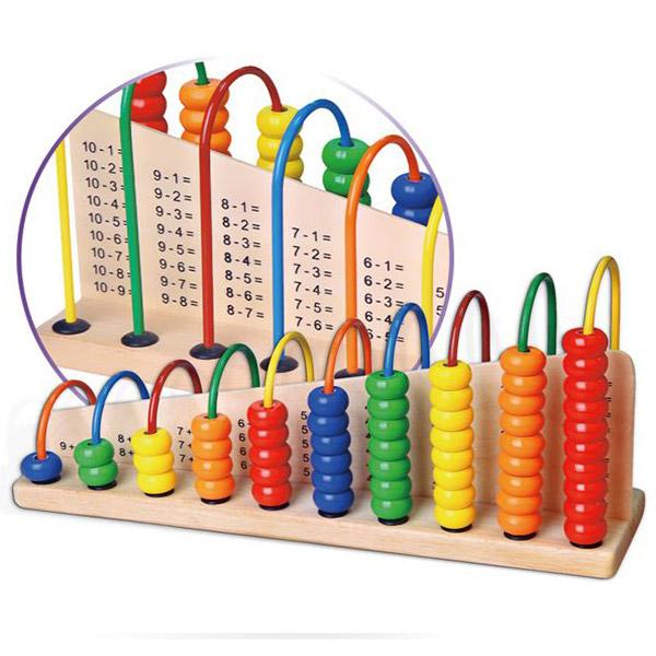 Viga Drvena vertikalna računaljka 50022 - ODDO igračke