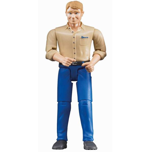 Figura čovek, plavi jeans Bruder 600068 - ODDO igračke
