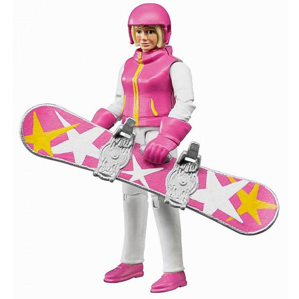 Figura žena na snowboard-u Bruder 604202 - ODDO igračke