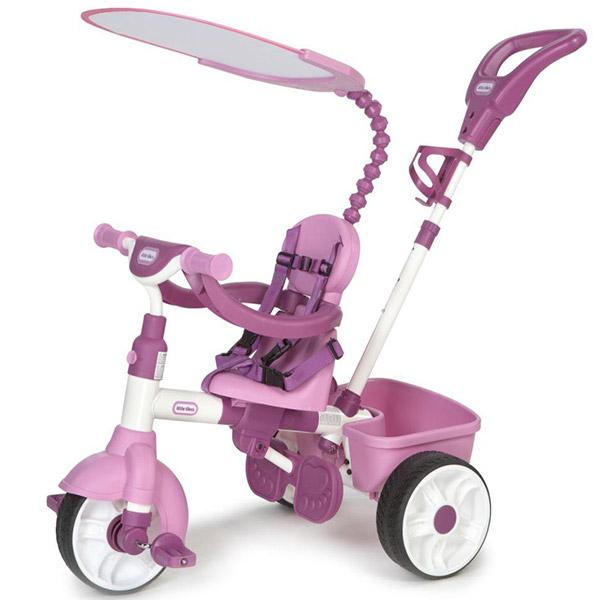 Tricikl sa ručkom i tendom 4u1 pink Little Tikes LT634307 - ODDO igračke