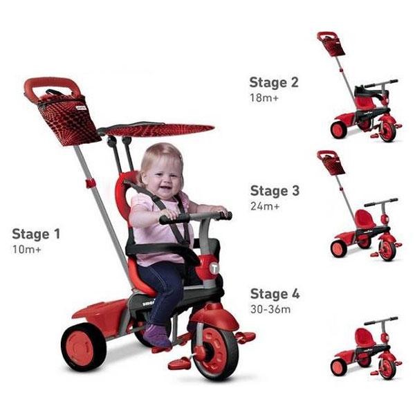 Tricikl Vanilla 4u1 Red 6702500 - ODDO igračke